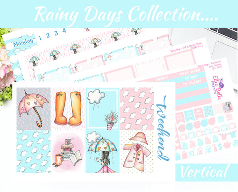 RAINY DAYS COLLECTION - Vertical Weekly Planner Kit [367]