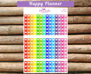 Rainbow Heart Checklist Stickers - Happy Planner [014]