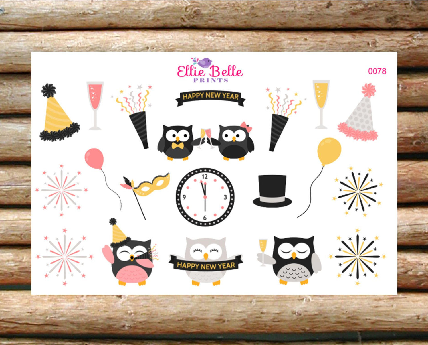 New Years Eve Decorative Stickers [078]