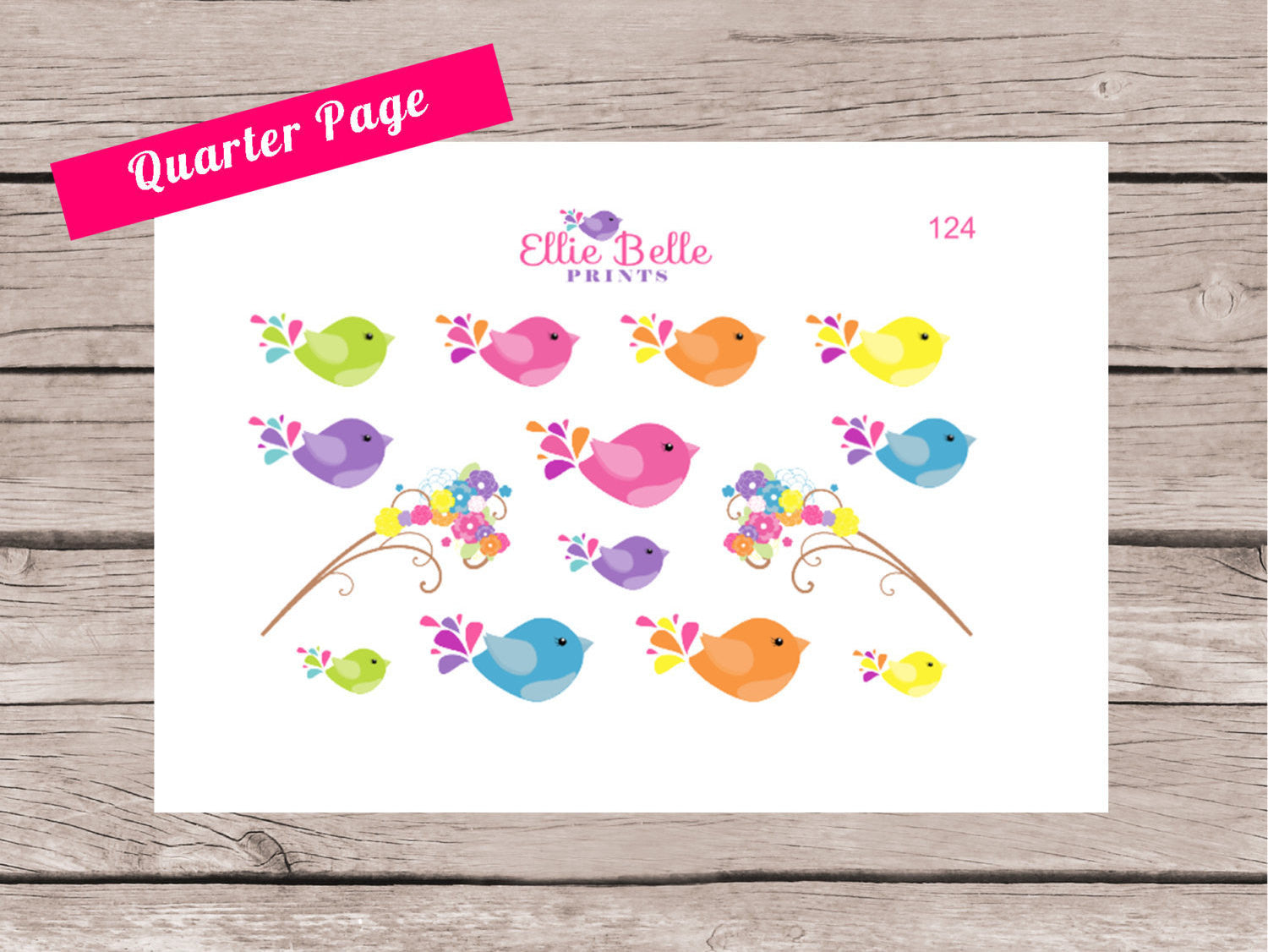 Cute Little Birds Decorative Stickers [124]