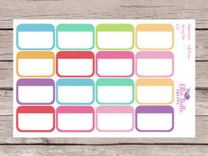 Blank Appointment / Event Half Box Stickers - Spring Delight [130]