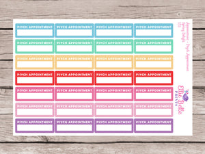 Psychologist / Psychiatrist Appointment Stickers [151]