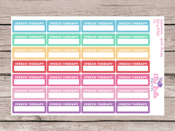 Speech Therapy Appointment Stickers - Spring Delight [149]