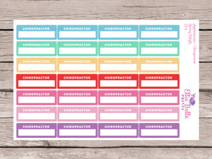 Chiropractor Appointment Stickers - Spring Delight [154]