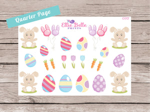 Easter Bunnies Decorative Stickers [156]