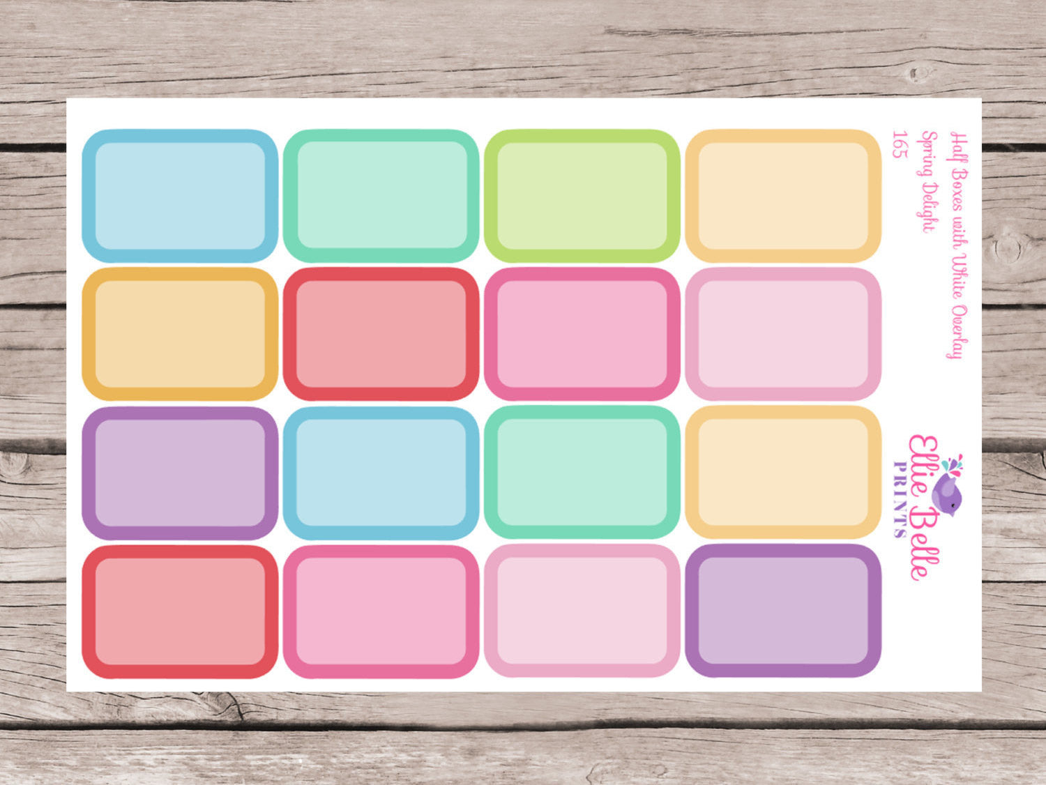 Half Box Stickers with overlay - Spring Delights [166]