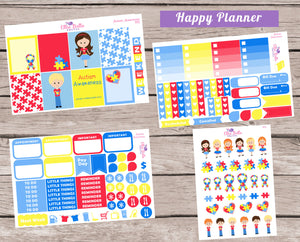 AUTISM AWARENESS - Classic Happy Planner Weekly Planner Kit