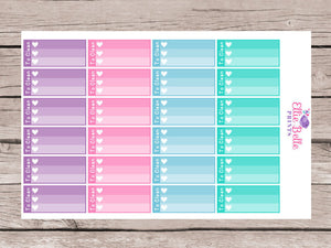 To Clean Mini Ombre Checklist Stickers - Colour Crush [190]