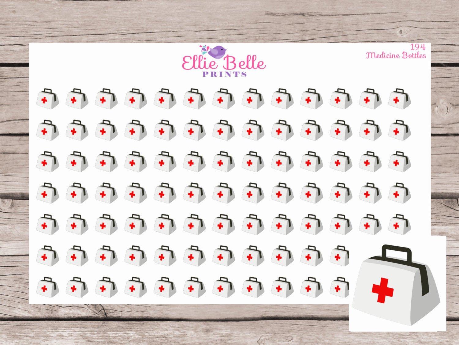 Medicine Bags Planner Stickers - [194]