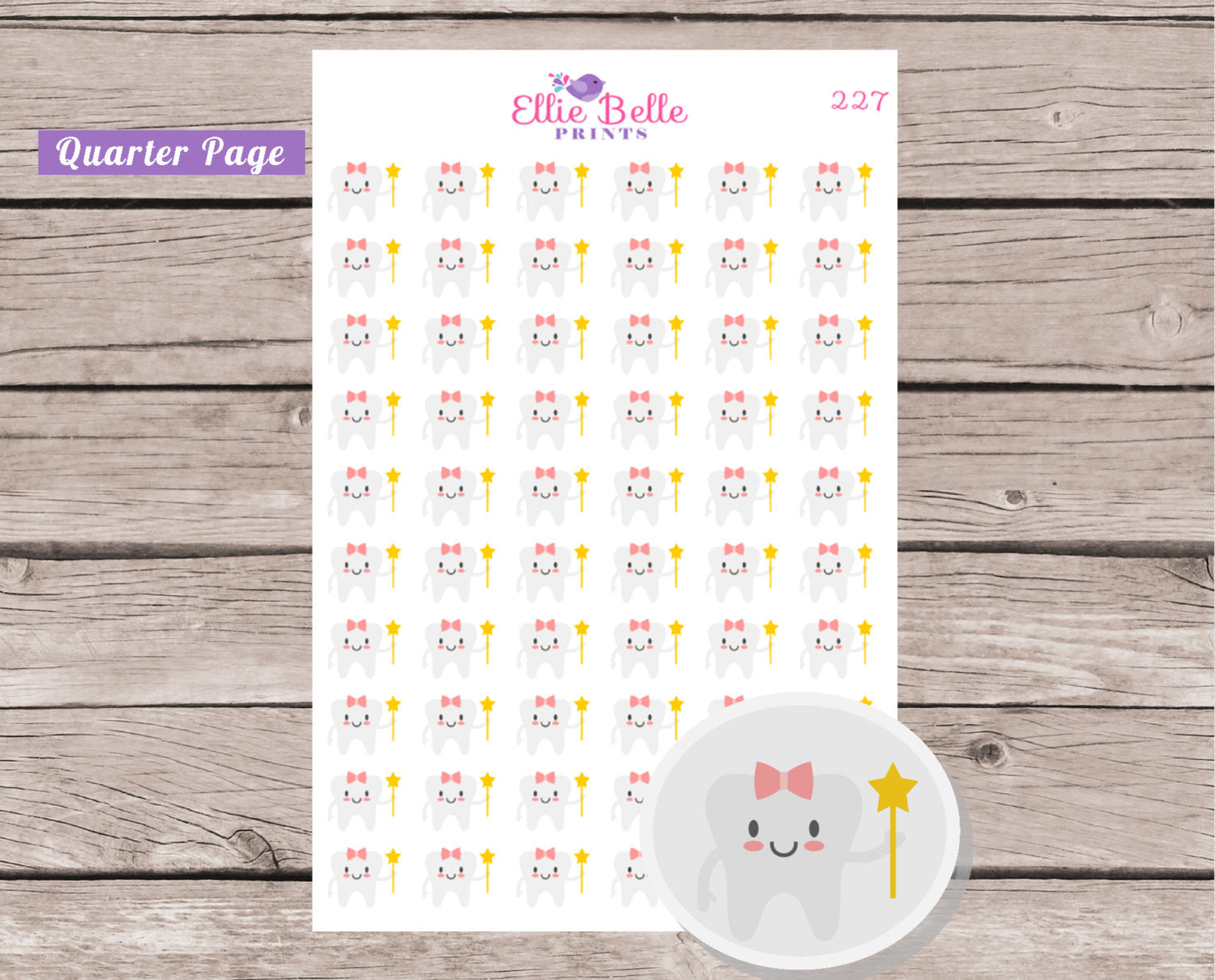 Girl Tooth Fairy Sticker [227]