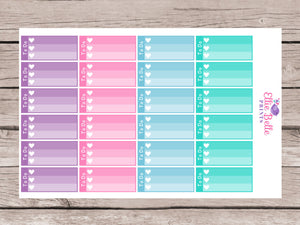 To Do Mini Ombre Checklist Stickers - Colour Crush
