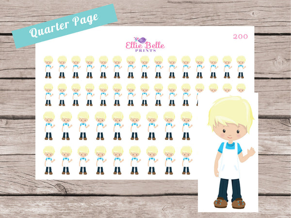 Little Boy Decorative Stickers [200]