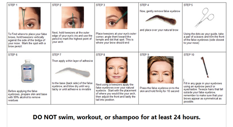 how to apply false brows