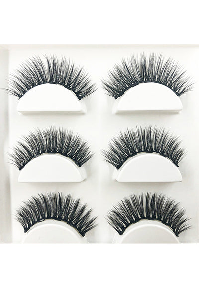 Magnetic Stackable Lashes with Liquid Magnetic Eyeliner Kit, includes 3xMagnetic Stackable Lash Pairs, Liner & Tweezer- [Wispy Natural 001]