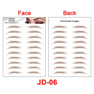 GEORGE MEN - 4D Hair-like Eyebrow Tattoo Sticker -Waterproof, Long Lasting, Makeup