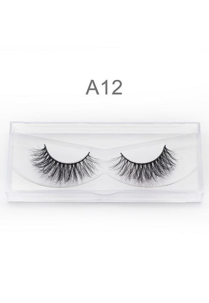 3D Mink False Eyelashes Handmade A02