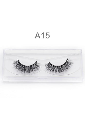 3D Mink False Eyelashes Handmade A15