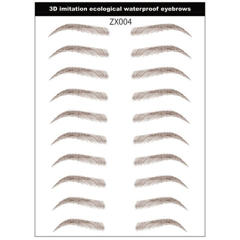 4D Hair-like Eyebrow Tattoo Sticker -Waterproof, Long Lasting, Makeup