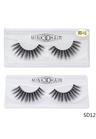 3D Mink False EyeLashes -Wispy Full 0.05mm