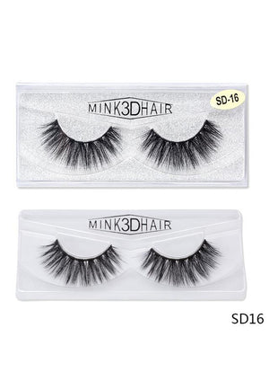 3D Mink False EyeLashes -Wispy Full 0.05mm SD16