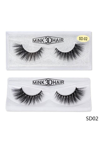 3D Mink False EyeLashes -Wispy Full 0.05mm SD02