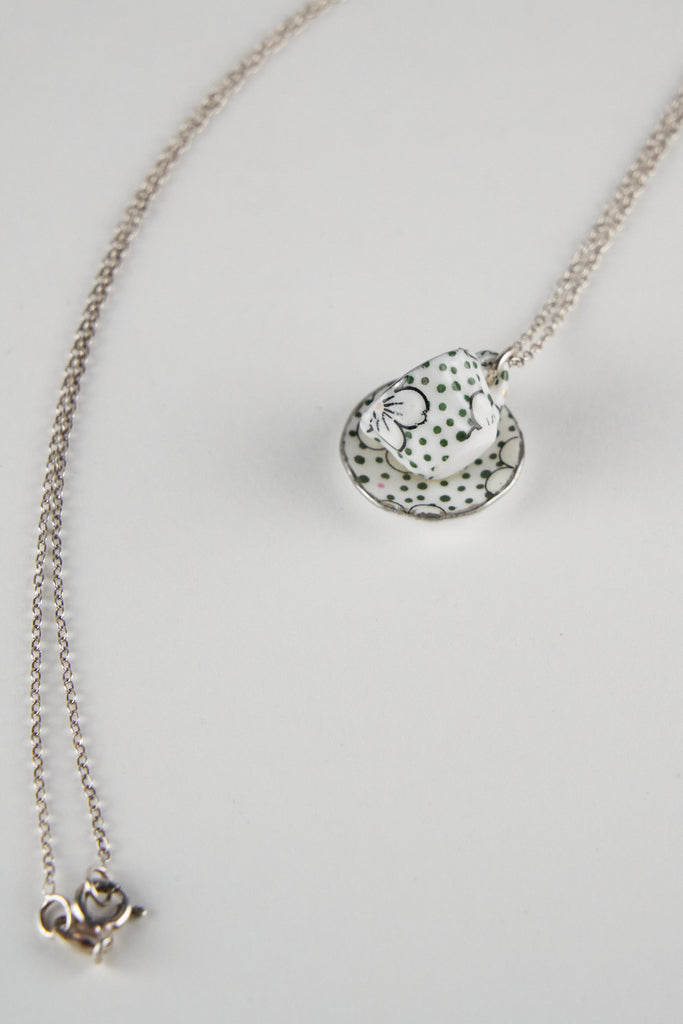 Cup&Saucer Necklace by Louise Buchan