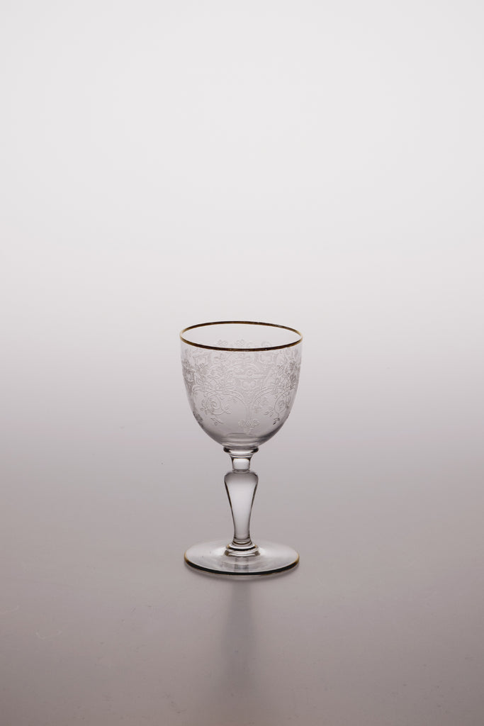Trefle Gold Rim Liqueur Glass by Baccarat