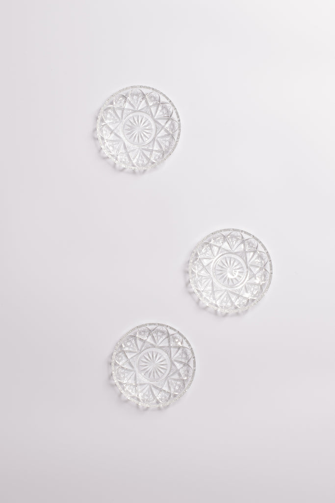 Star Motif Glass Coaster