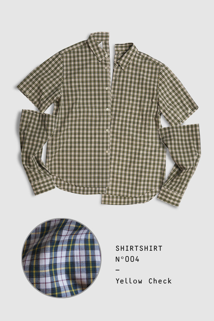 SHIRTSHIRT - Yellow Check / N004