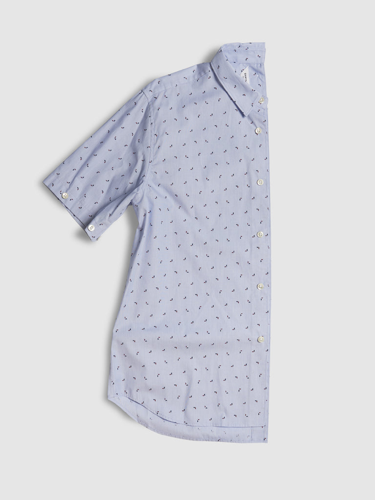SHIRTSHIRT - Blue Triangle Dot / Nº102