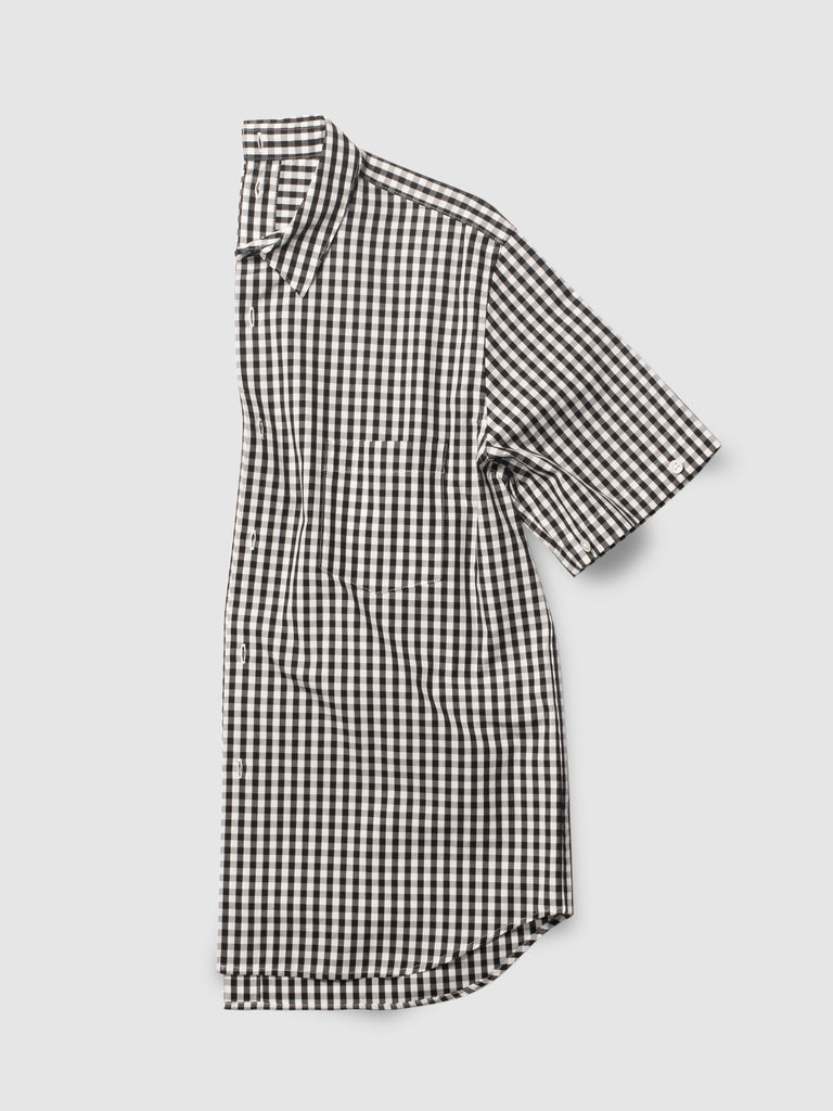 SHIRTSHIRT - Black Gingham / Nº204