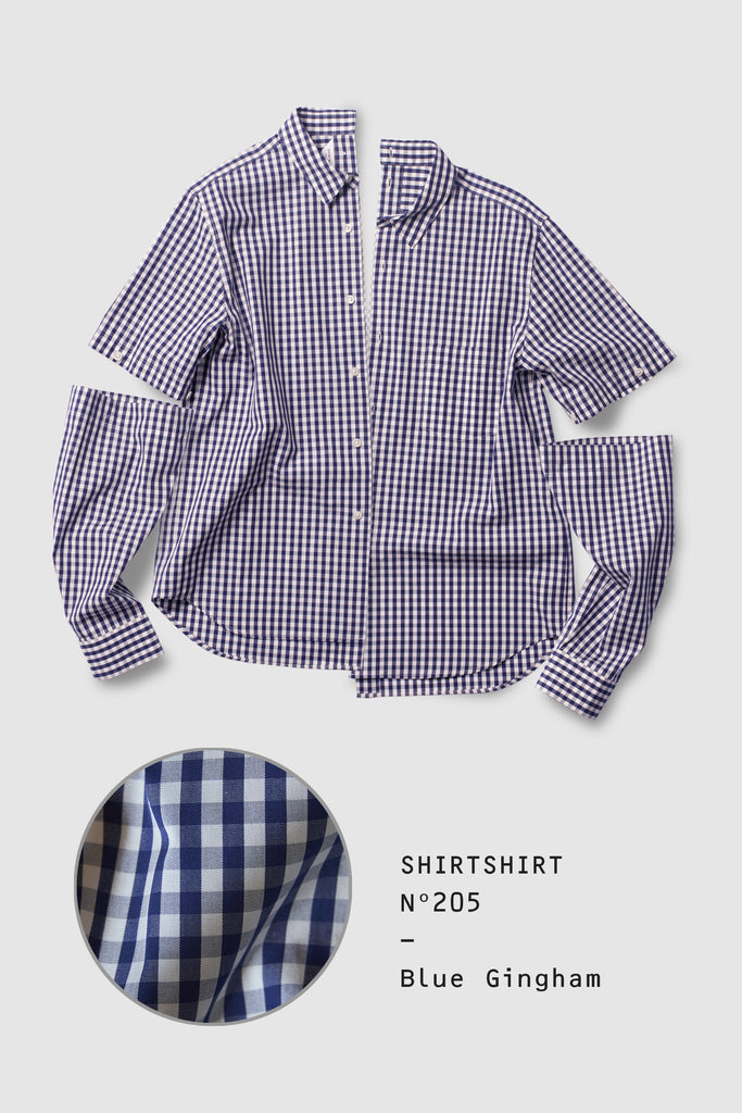 SHIRTSHIRT - Blue Gingham / Nº205