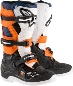 ALPINESTARS | TECH 7S BOOTS BLACK/ORANGE/WHITE/BLUE SZ 04 | 482-25704