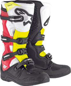 ALPINESTARS | TECH 5 BOOTS BLACK/WHITE/RED/YELLOW SZ 08 | 482-30608