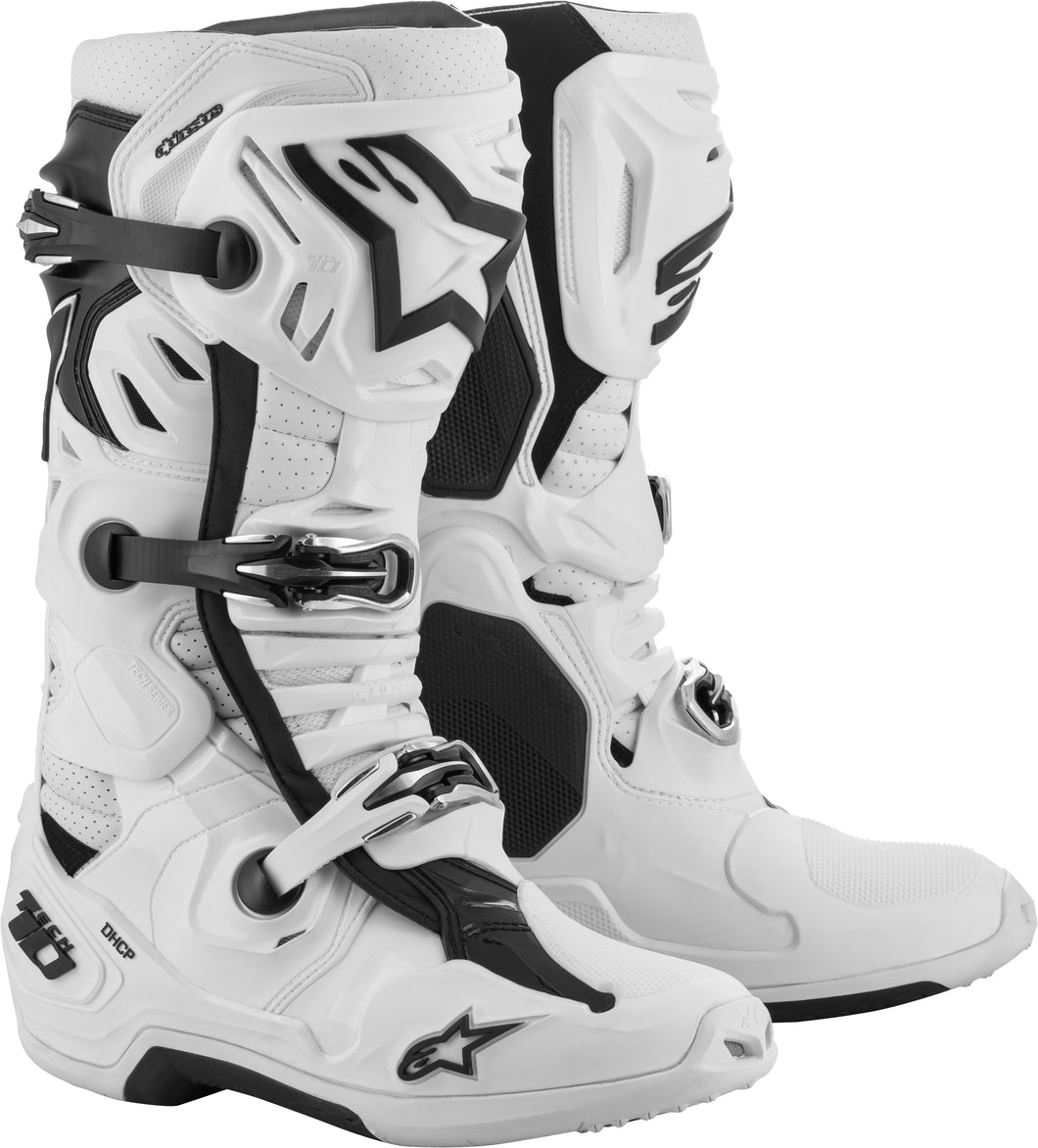 ALPINESTARS | TECH 10 SUPERVENTED BOOTS WHITE SZ 13 | 482-01613
