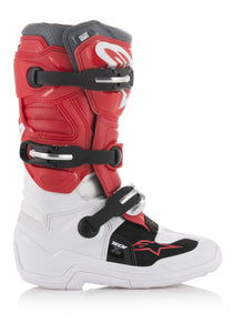 ALPINESTARS | YOUTH TECH 7S BOOTS WHITE/RED/GREY SZ 04 | 482-26004