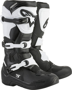 ALPINESTARS | TECH 3 BOOTS BLACK/WHITE SZ 12 | 482-04212