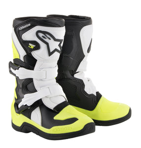 ALPINESTARS | TECH 3S BOOTS BLACK/WHITE/YELLOW SZ Y10 | 482-42510