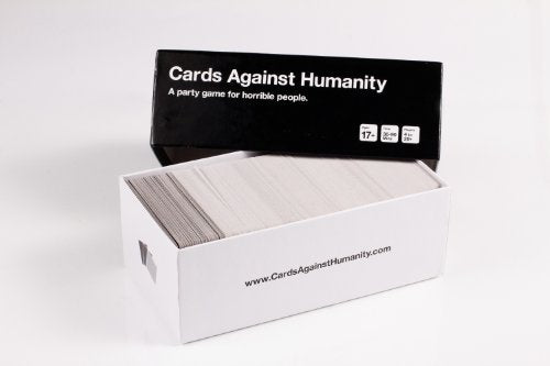 Cards Against Humanity By LUD | Party Game For Horrible People Men & Women Green Box The Bigger Blacker Box Red Box Blue Box