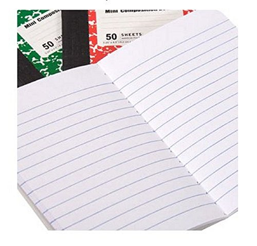 Mini Composition Book By American Scholar | Jotting Notebook For Students & Professionals 50 Sheets - 3 Pack