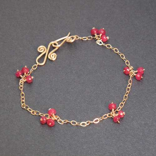 Bracelet 11 - choice of stone - RoseGold