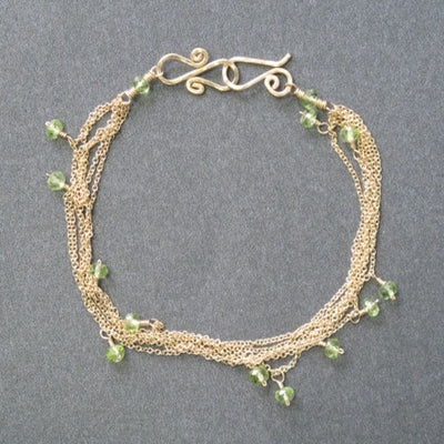 Bracelet 02 - choice of stone - Gold