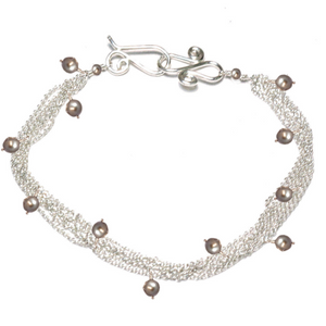 Bracelet 02 - choice of stone - RoseGold