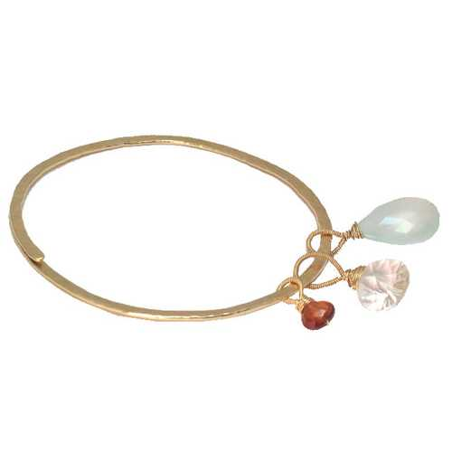 Bracelet 27 - choice of stone - RoseGold