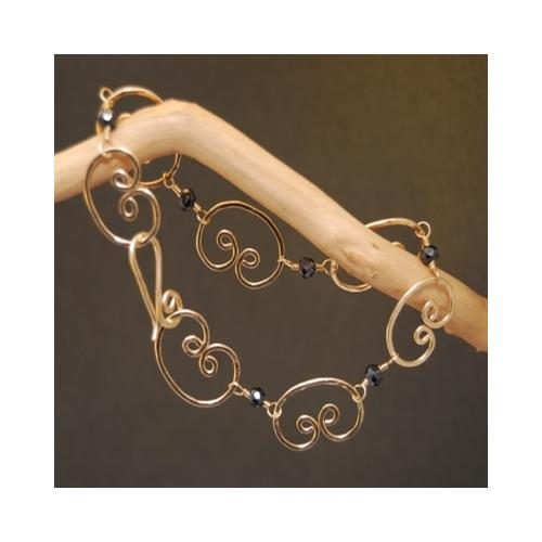 Bracelet 35 - choice of stone - Gold