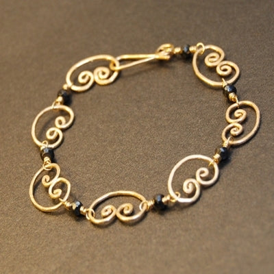Bracelet 35 - choice of stone - Silver