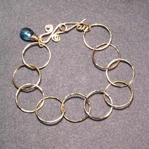 Bracelet 05 - choice of stone - RoseGold