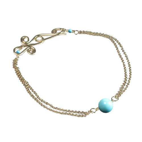 Bracelet 53 - choice of stone - Silver