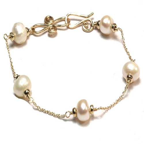 Bracelet 54 - choice of stone - Gold