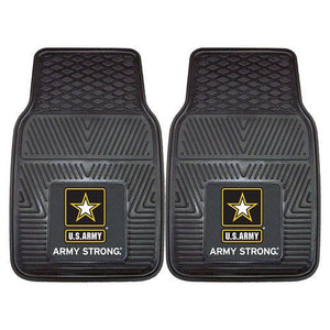 "US Army Armed Forces Heavy Duty 2-Piece Vinyl Car Mats (18x27"")"""